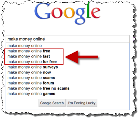 Make Money Online Google Search