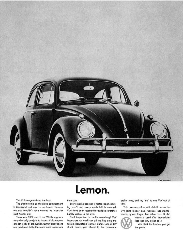 pattern interrupt vw lemon ad