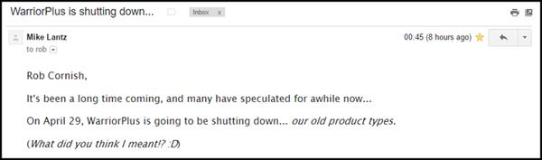 warriorplus shutdown